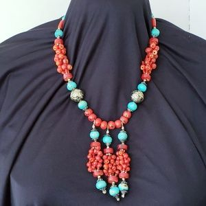VINTAGE NECKLACE NATIVE AMERICAN HANDMADE ss tq cn